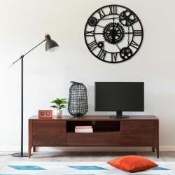 stradeXL Wall Clock Brown 80 cm Metal