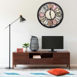 stradeXL Wall Clock Multicolour 80 cm MDF