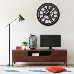 stradeXL Wall Clock Black 80 cm MDF
