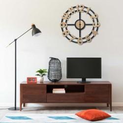 stradeXL Wall Clock Gold and Black 63.5 cm MDF