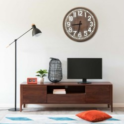 stradeXL Wall Clock Brown 60 cm MDF