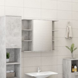 stradeXL Szafka łazienkowa, szarość betonu, 80 x 20,5 x 64 cm, płyta