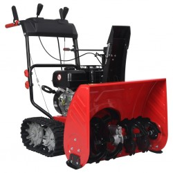 stradeXL Two-stage Snow Thrower Red and Black Plastic 196 cc 6.5 HP
