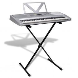 Zestaw Keyboard elektryczny 61 klawiszy+statyw na nuty+statyw