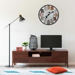 stradeXL Wall Clock Multicolour 51 cm Iron