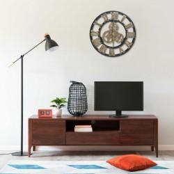 stradeXL Wall Clock Gold and Black 45 cm MDF