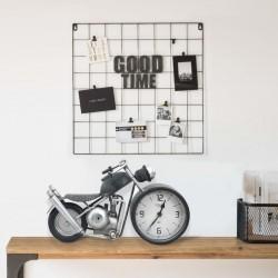 stradeXL Zegar stołowy, antracytowy, 32 x 10,5 x 18 cm, żelazo i MDF