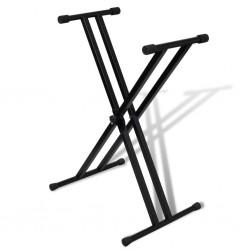 Statyw pod keyboard, podwójny, regulowana wysokość, kształt X