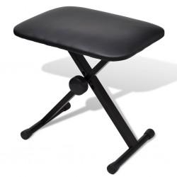 stradeXL Składany, regulowany stołek do pianina i keyboardu