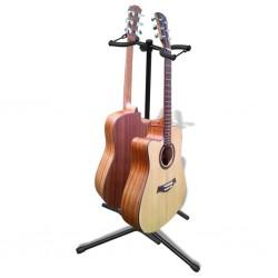 Stojak pod gitarę, regulowany, podwójny