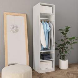 stradeXL Szafa, wysoki połysk, biała, 50x50x200 cm, płyta wiórowa