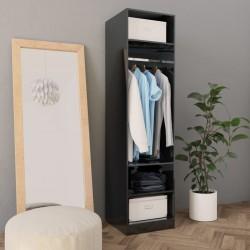 stradeXL Szafa, wysoki połysk, czarna, 50x50x200 cm, płyta wiórowa
