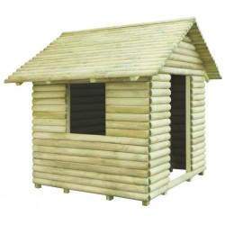 stradeXL Domek dla dzieci, impregnowane drewno sosnowe, 167x150x151 cm