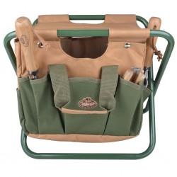 Esschert Design Siedzisko z torbą na narzędzia ogrodowe GT01