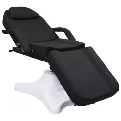 stradeXL Massage Stół do masażu, czarny, 180x62x(86,5-118) cm