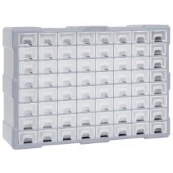 stradeXL Organizer z 64 szufladkami, 52x16x37,5 cm