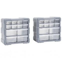 stradeXL Organizery z 12 szufladkami, 2 szt, 26,5x16x26 cm