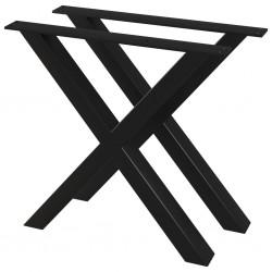 stradeXL Nogi do stołu, 2 szt., kształt litery X, 80 x 72 cm