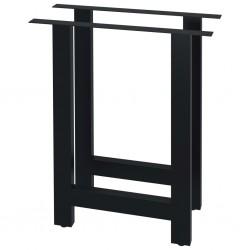 stradeXL Nogi do stołu, 2 szt., kształt litery H, 60x72 cm