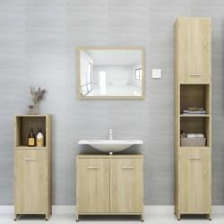 stradeXL 3-częściowy zestaw mebli łazienkowych, dąb sonoma, płyta