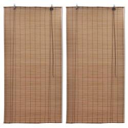 stradeXL Bambusowe rolety, 2 szt., 80 x 160 cm, brązowe