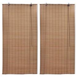stradeXL Bambusowe rolety, 2 szt., 100 x 160 cm, brązowe