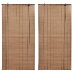 stradeXL Bambusowe rolety, 2 szt., 150 x 220 cm, brązowe