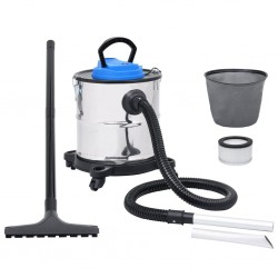 stradeXL Ash Vacuum Cleaner with Tube and Brush Stainless Steel