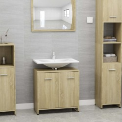 stradeXL Bathroom Cabinet Sonoma Oak 60x33x58 cm Chipboard