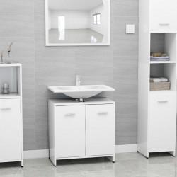 stradeXL Bathroom Cabinet High Gloss White 60x33x58 cm Chipboard