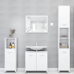 stradeXL Zestaw mebli łazienkowych, biały, płyta wiórowa