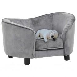 stradeXL Sofa dla psa, szara, 69x49x40 cm, pluszowa