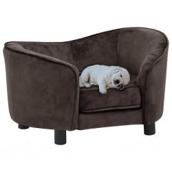 stradeXL Sofa dla psa, brązowa, 69x49x40 cm, pluszowa