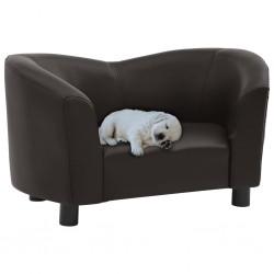 stradeXL Sofa dla psa, brązowa, 67x41x39 cm, sztuczna skóra