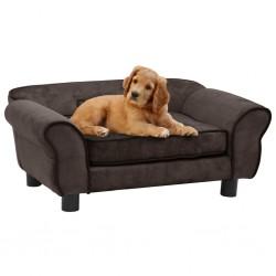 stradeXL Sofa dla psa, brązowa, 72x45x30 cm, pluszowa