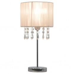 stradeXL Lampa stołowa, biała, okrągła, E27