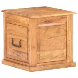 stradeXL Skrzynia, 40x40x40 cm, lite drewno akacjowe
