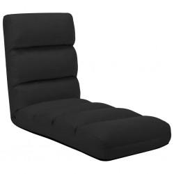 stradeXL Składane krzesło podłogowe, czarne, sztuczna skóra