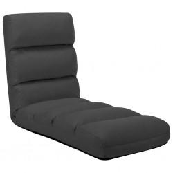 stradeXL Składane krzesło podłogowe, antracytowe, sztuczna skóra