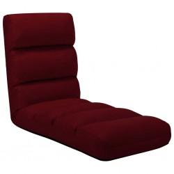 stradeXL Składane krzesło podłogowe, winna czerwień, sztuczna skóra