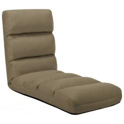 stradeXL Składane krzesło podłogowe, cappuccino, sztuczna skóra