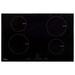 stradeXL Induction Hob with 4 Burners Touch Control Glass 77 cm 7000 W