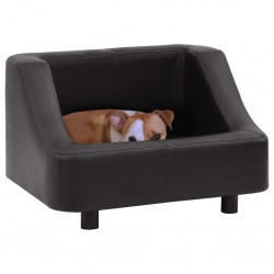 stradeXL Sofa dla psa, czarna, 67x52x40 cm, sztuczna skóra