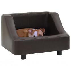 stradeXL Sofa dla psa, brązowa, 67x52x40 cm, sztuczna skóra