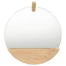 stradeXL Wall Mirror Solid Pinewood 35 cm