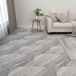 stradeXL Samoprzylepne panele podłogowe, 55 szt. PVC, 5,11m², szare pasy