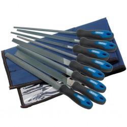 Draper Tools 8-częściowy zestaw pilników i tarników 200 mm, 44961