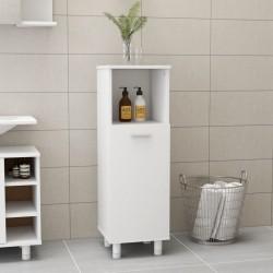 stradeXL Bathroom Cabinet White 30x30x95 cm Chipboard