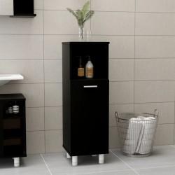 stradeXL Bathroom Cabinet Black 30x30x95 cm Chipboard