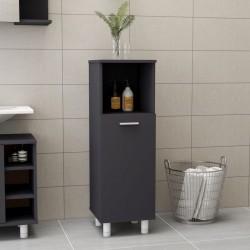 stradeXL Bathroom Cabinet Grey 30x30x95 cm Chipboard